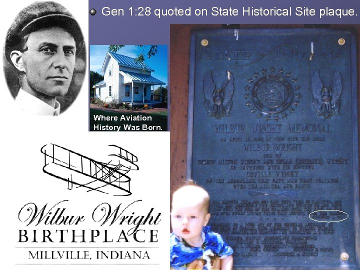 Gen 1: 28 quoted on State Historical Site plaque. Where Aviation History Was Born.