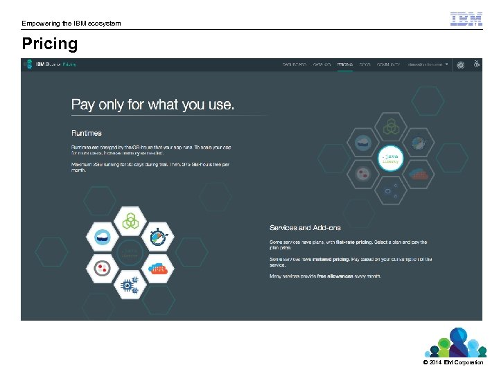 Empowering the IBM ecosystem Pricing © 2014 IBM Corporation