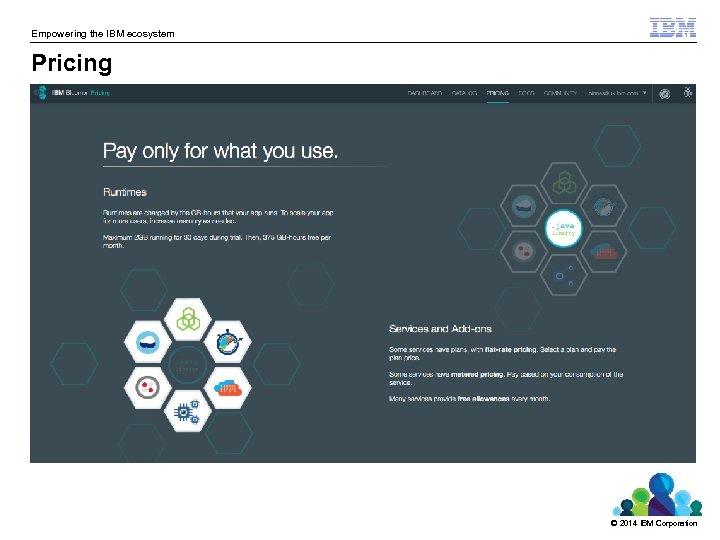 Empowering the IBM ecosystem Pricing © 2014 IBM Corporation