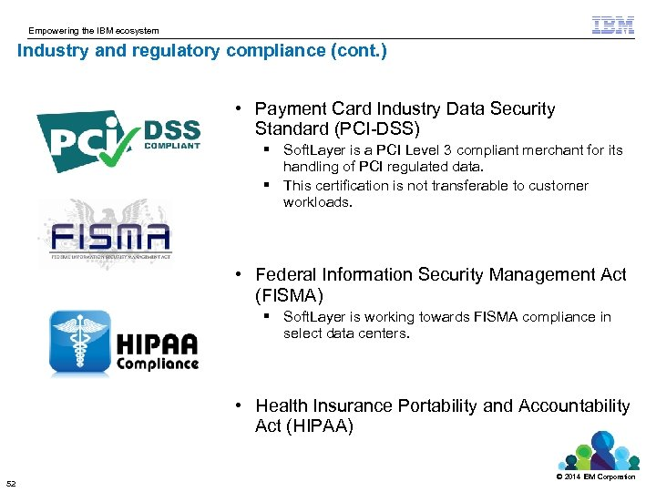 Empowering the IBM ecosystem Industry and regulatory compliance (cont. ) • Payment Card Industry