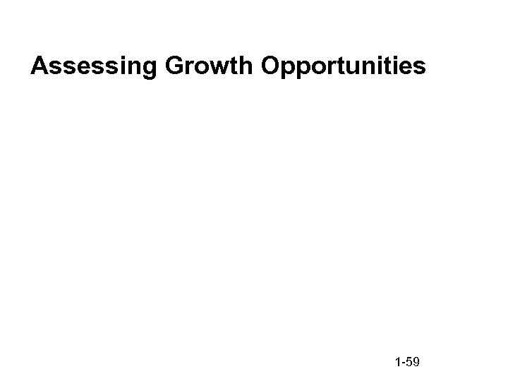 Assessing Growth Opportunities 1 -59