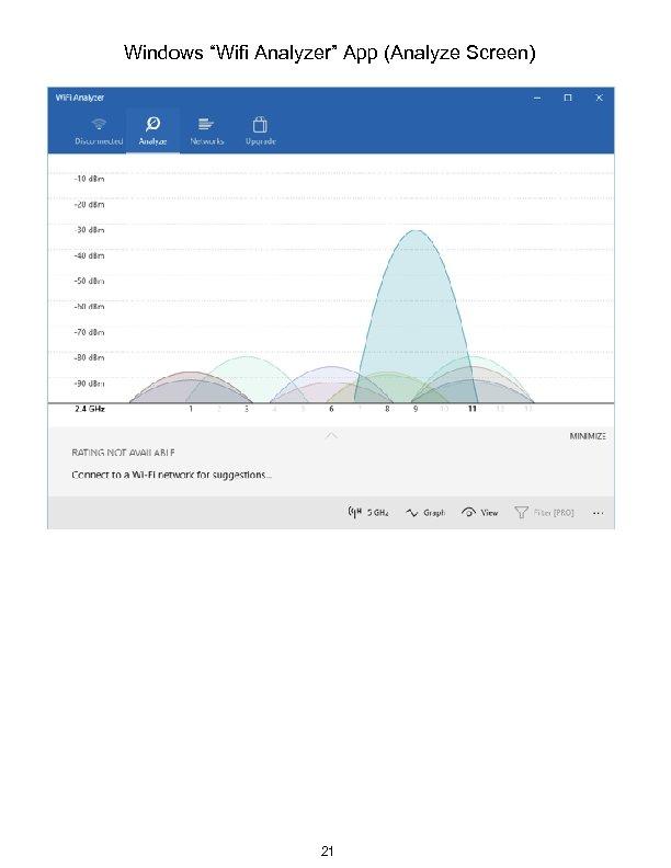 """Windows """"Wifi Analyzer"""" App (Analyze Screen) 21"""