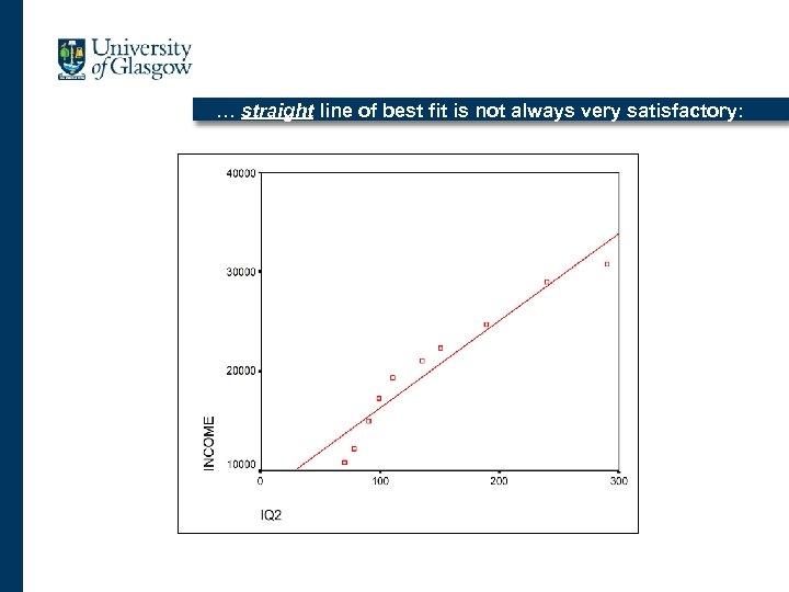 … straight line of best fit is not always very satisfactory: