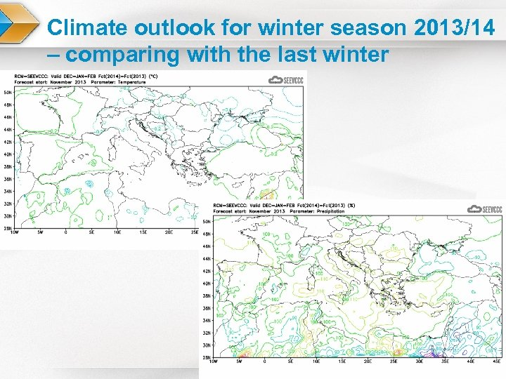 Climate outlook for winter season 2013/14 – comparing with the last winter