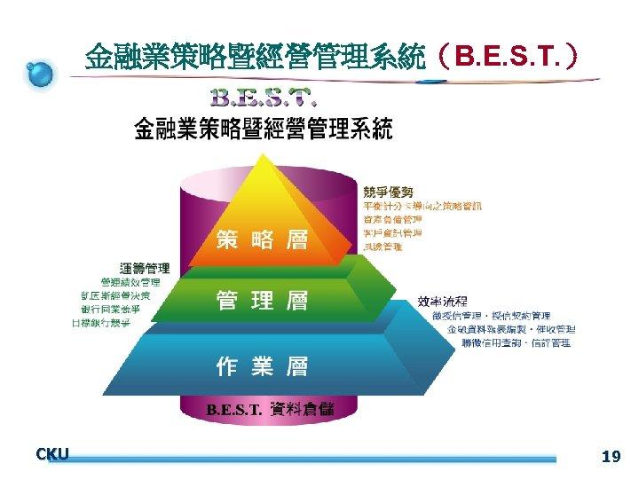 金融業策略暨經營管理系統(B. E. S. T. ) CKU 19