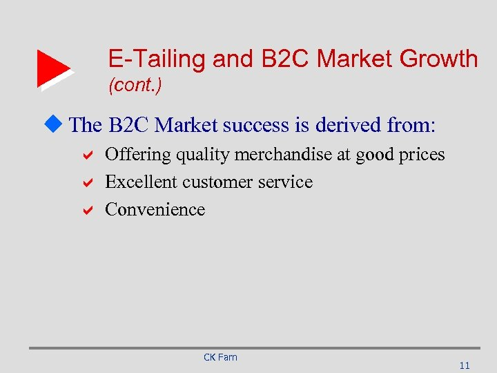 E-Tailing and B 2 C Market Growth (cont. ) u The B 2 C