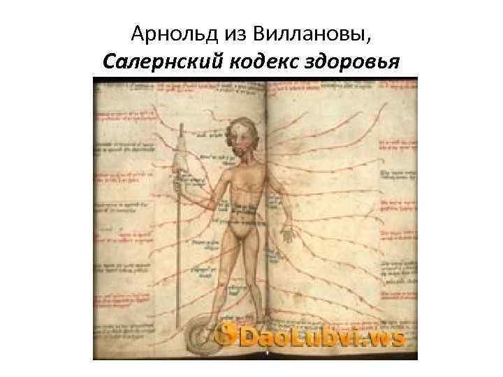 Арнольд из Виллановы, Салернский кодекс здоровья