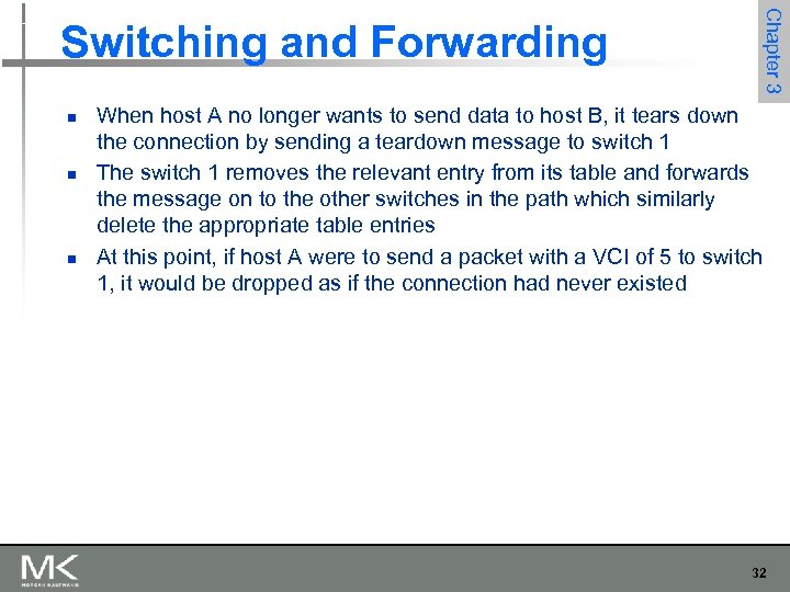 n n n Chapter 3 Switching and Forwarding When host A no longer wants