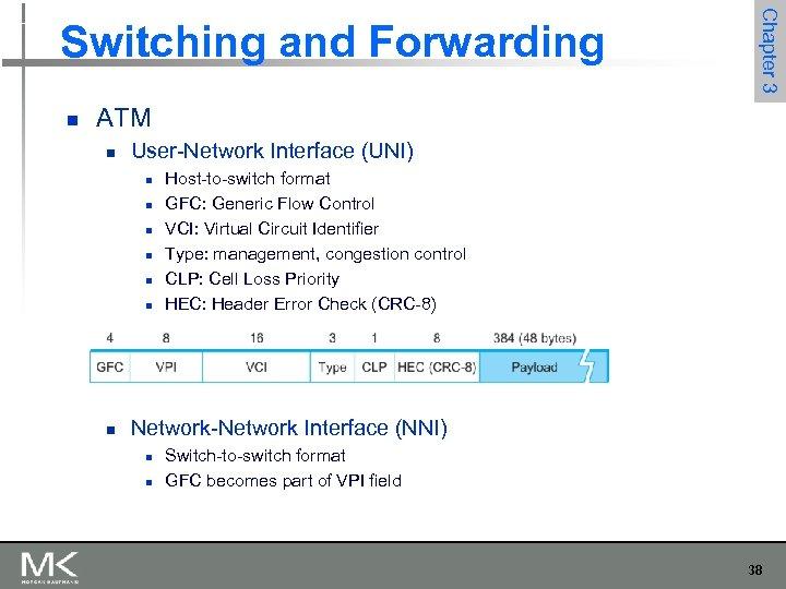 n Chapter 3 Switching and Forwarding ATM n User-Network Interface (UNI) n n n