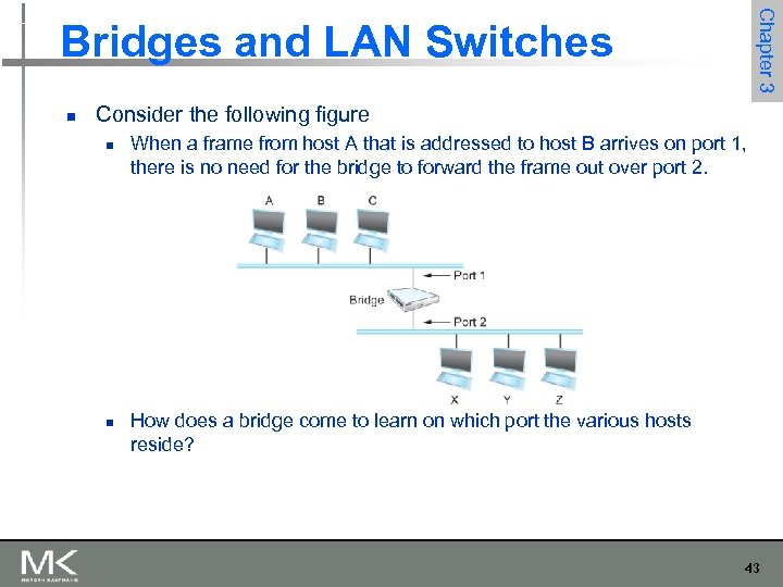 Chapter 3 Bridges and LAN Switches n Consider the following figure n n When