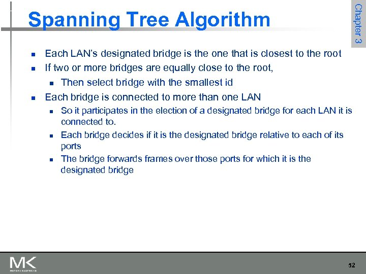 Chapter 3 Spanning Tree Algorithm n n n Each LAN's designated bridge is the