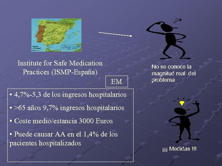 Institute for Safe Medication Practices (ISMP-España) EM No se conoce la magnitud real del