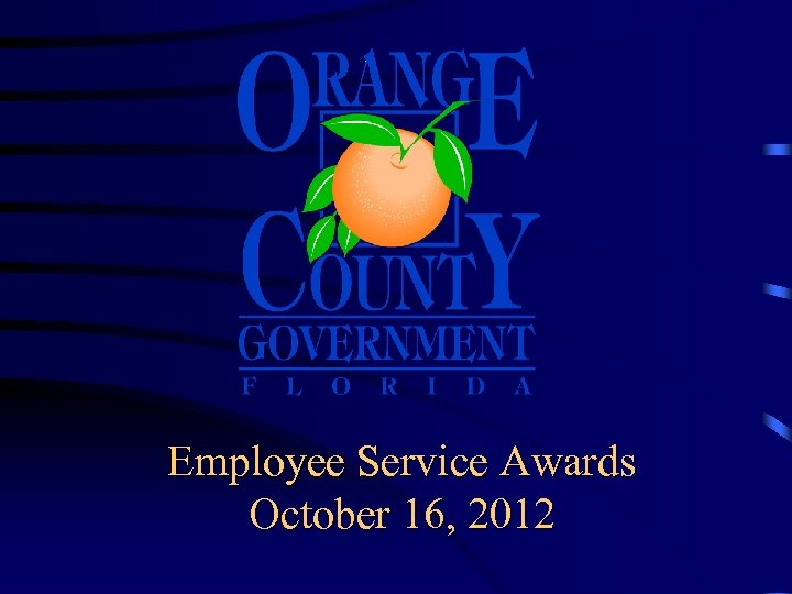 Employee Service Awards October 16, 2012