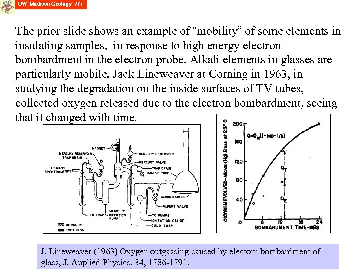 """The prior slide shows an example of """"mobility"""" of some elements in insulating samples,"""