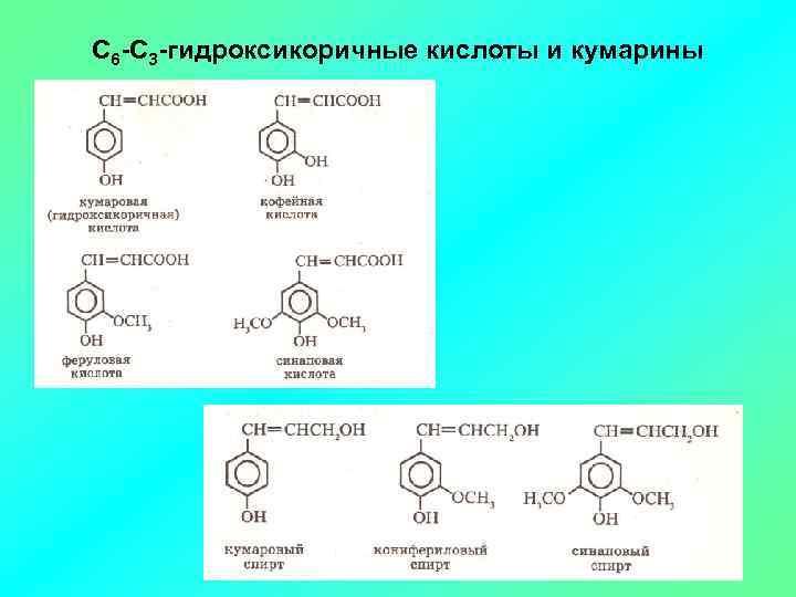 С 6 -С 3 -гидроксикоричные кислоты и кумарины
