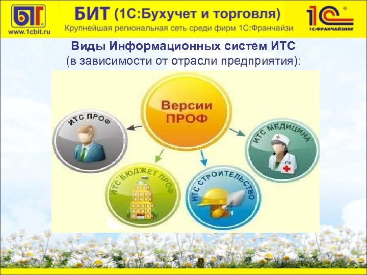 Виды Информационных систем ИТС (в зависимости от отрасли предприятия):