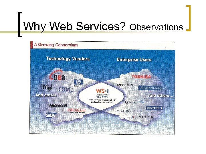 Why Web Services? Observations