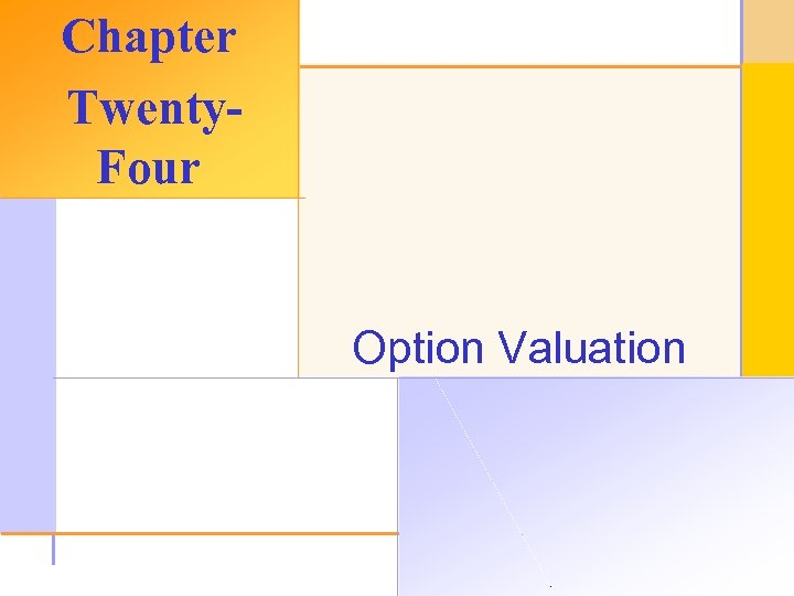Chapter Twenty. Four Option Valuation © 2003 The Mc. Graw-Hill Companies, Inc. All rights