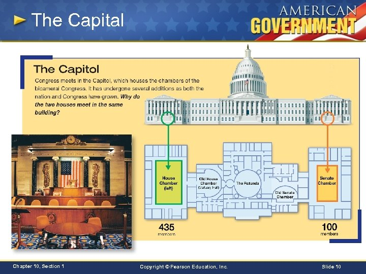 The Capital Chapter 10, Section 1 Copyright © Pearson Education, Inc. Slide 10