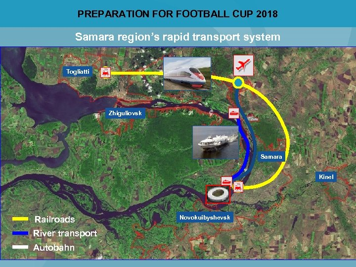 PREPARATION FOR FOOTBALL CUP 2018 Samara region's rapid transport system Togliatti Zhiguliovsk Samara Kinel