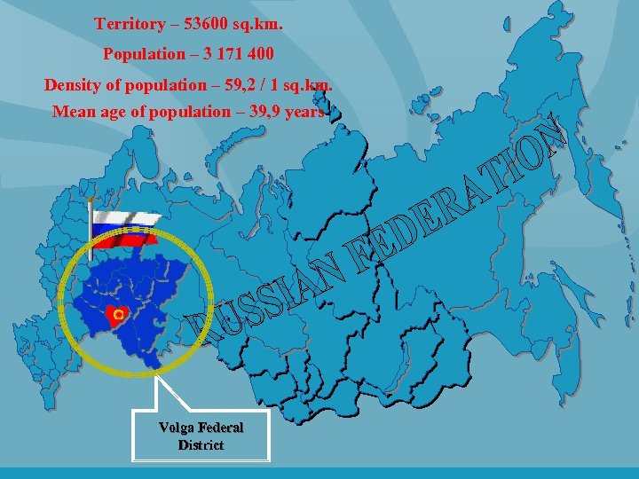 Territory – 53600 sq. km. Population – 3 171 400 Density of population –