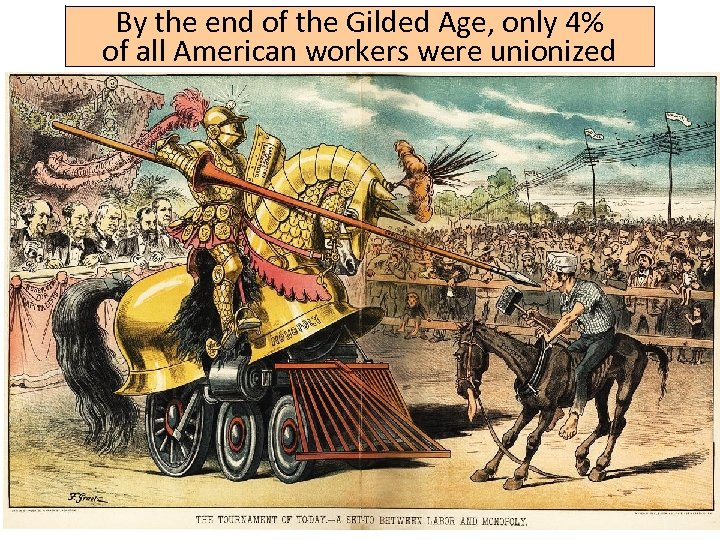 By the end of the Gilded Age, only 4% of all American workers were
