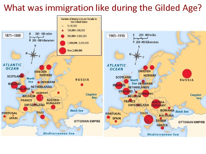 What was immigration like during the Gilded Age?