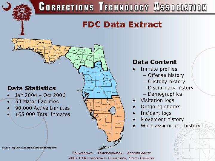 FDC Data Extract Data Content • Data Statistics • • Jan 2004 – Oct