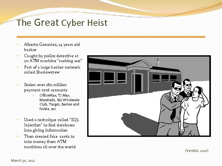 The Great Cyber Heist • • Alberto Gonzalez, 14 years old hacker Caught by