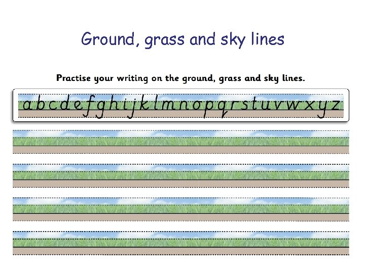 Ground, grass and sky lines