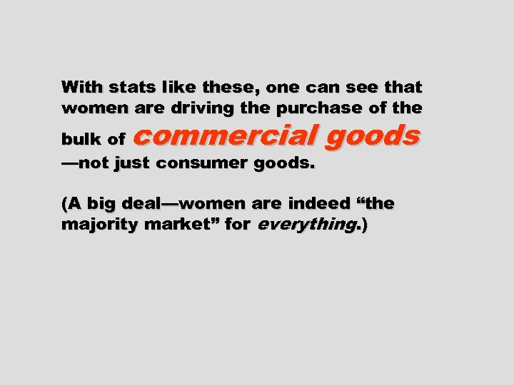 With stats like these, one can see that women are driving the purchase of
