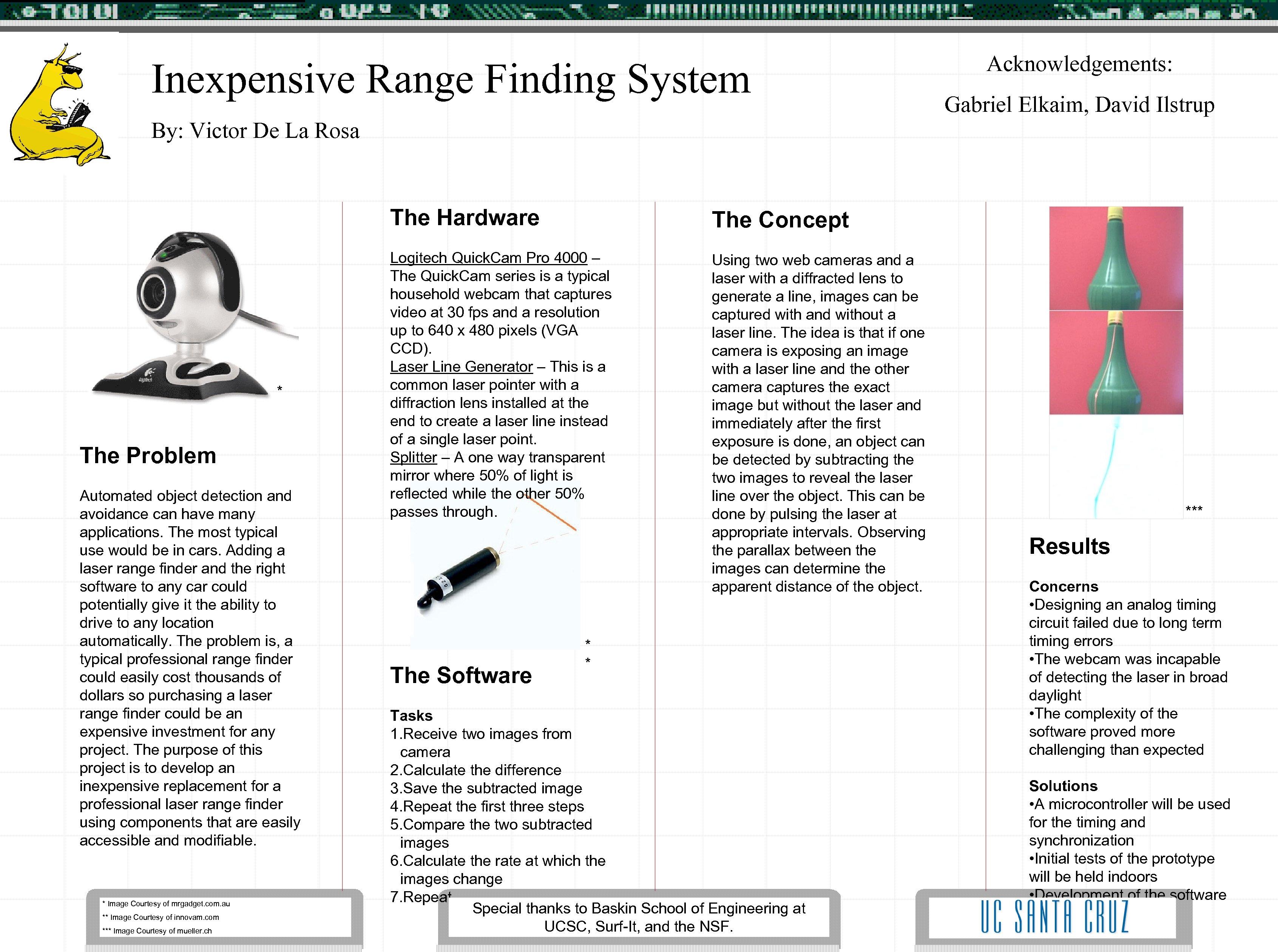 Inexpensive Range Finding System Acknowledgements: Gabriel Elkaim, David Ilstrup By: Victor De La Rosa