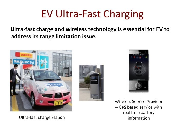 EV Ultra-Fast Charging Ultra-fast charge and wireless technology is essential for EV to address
