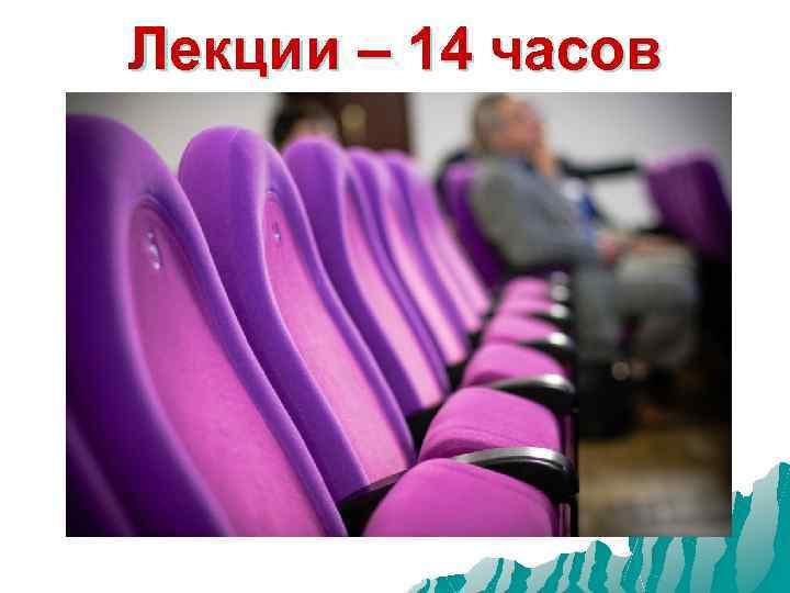 Лекции – 14 часов