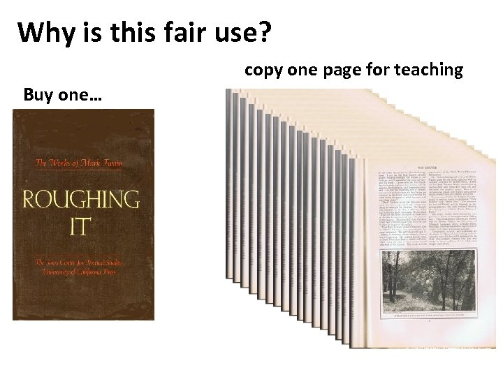 Why is this fair use? copy one page for teaching Buy one…