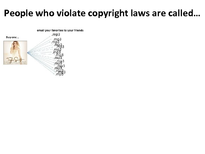 People who violate copyright laws are called…