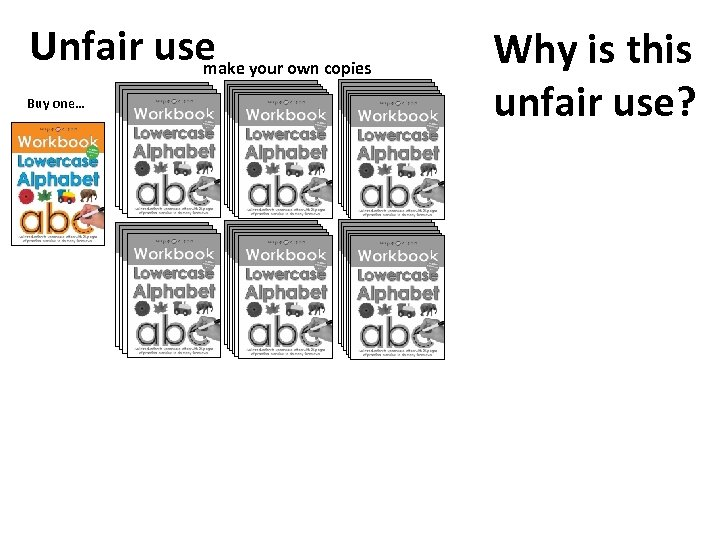 Unfair use your own copies make Buy one… Why is this unfair use?