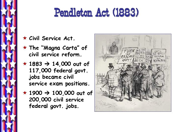 "Pendleton Act (1883) « Civil Service Act. « The ""Magna Carta"" of civil service"