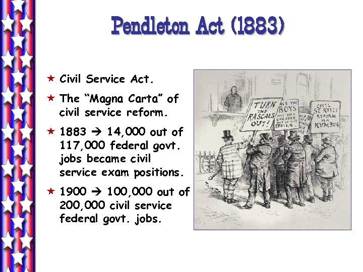 "Pendleton Act (1883) « Civil Service Act. « The ""Magna Carta"" of civil service"