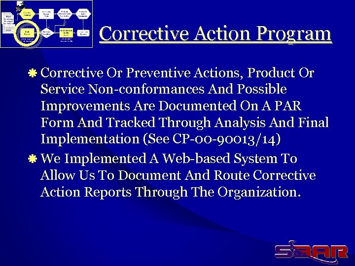 Corrective Action Program ä Corrective Or Preventive Actions, Product Or Service Non-conformances And Possible