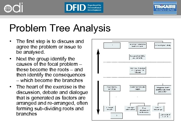 RAPID Programme Problem Tree Analysis • The first step is to discuss and agree