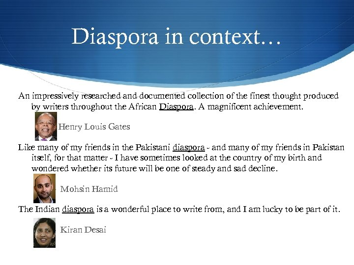 Diaspora in context… An impressively researched and documented collection of the finest thought produced