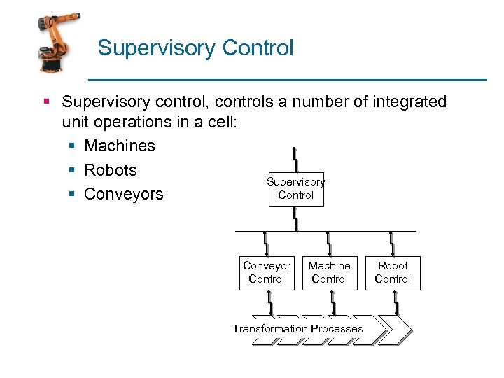 Supervisory Control § Supervisory control, controls a number of integrated unit operations in a