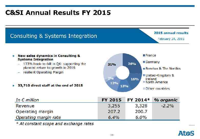 C&SI Annual Results FY 2015 38