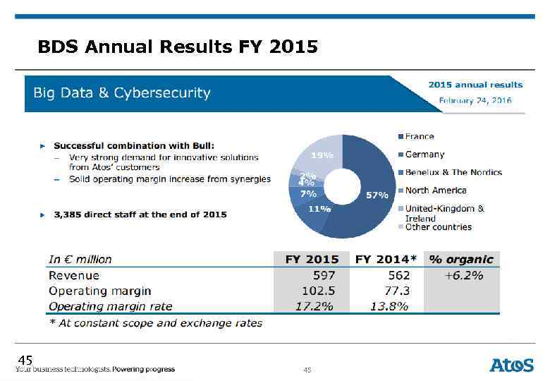 BDS Annual Results FY 2015 45 45