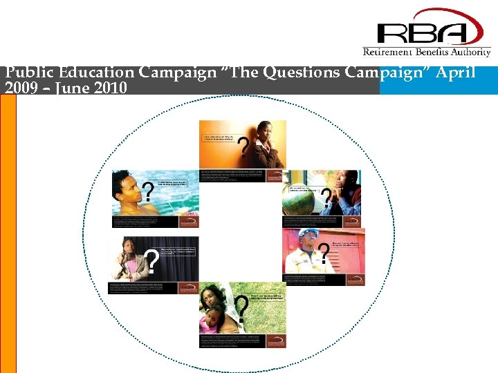 "Public Education Campaign ""The Questions Campaign"" April 2009 – June 2010"