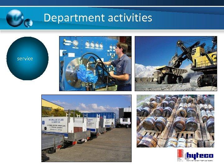 Department activities service