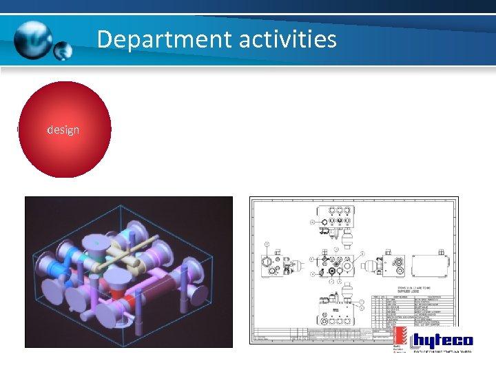 Department activities design