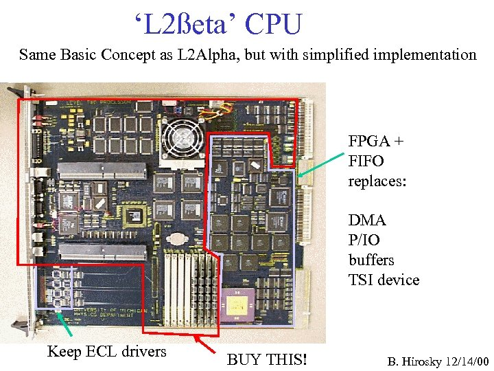 'L 2ßeta' CPU Same Basic Concept as L 2 Alpha, but with simplified implementation