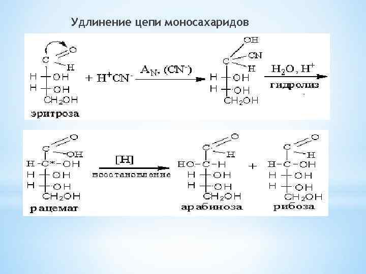 Удлинение цепи моносахаридов